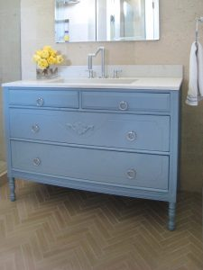 Turning Kitchen Cabinet into Vanities